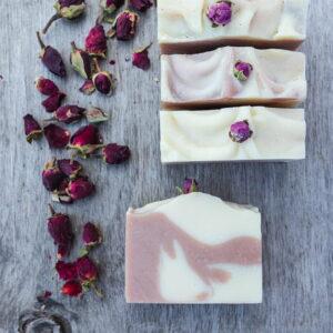 Mydło różane ręcznie robione naturalne