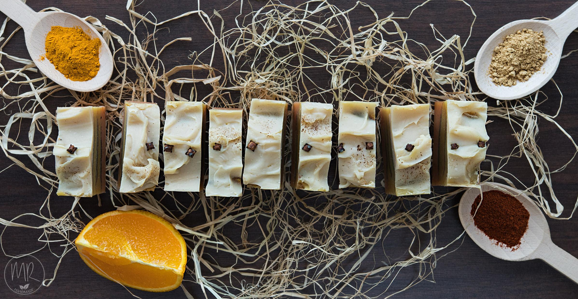 Naturalne mydło pomarańczowe