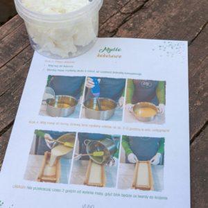 zestaw składników do mydła kokosowego